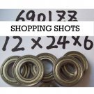 1 pc thin 6901-2Z ZZ bearings Ball Bearing 6901ZZ 12*24*6 12X24X6 mm 6901Z Z  free shipping