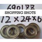 10 pcs thin 6901-2Z ZZ bearings Ball Bearing 6901ZZ 12*24*6 12X24X6 mm 6901Z Z  free shipping