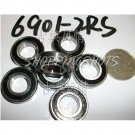 10pcs 6901-2RS RS bearings Ball Bearing 6901RS 12*24*6 12X24X6 mm 6901 ABEC1 free shipping