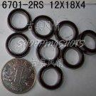 100pcs thin 6701-2RS RS bearings Ball Bearing 6701RS 12*18*4 12X18X4 mm 6701 2RS  free shipping