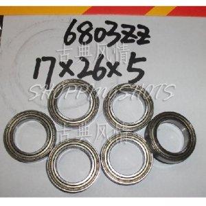 100pc thin 6803-2Z bearings Ball Bearing 6803Z 17X26X5 17*26*5 mm 6803ZZ ABEC1 ZZ  free shipping