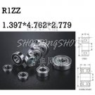10pcs R1Z R1ZZ 1.397 x 4.762 x 2.779 mm Miniature bearing Radial Ball Bearings  free shipping