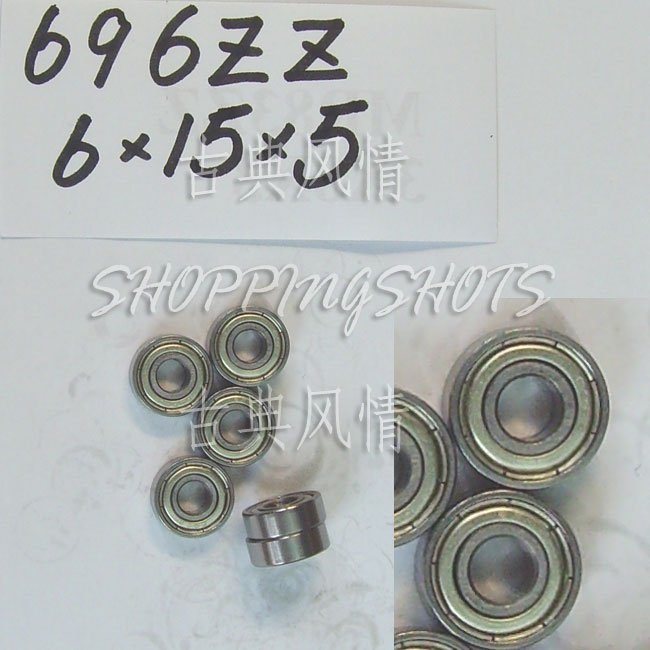 10 pcs 696 696Z ZZ Miniature Bearings ball Mini bearing 6X15X5 6*15*5 mm 696ZZ 2Z  free shipping