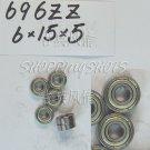 100 pcs 696 696Z ZZ Miniature Bearings ball Mini bearing 6X15X5 6*15*5 mm 696ZZ 2Z  free shipping
