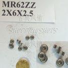 1pc MR62 MR62Z Miniature Bearings ball Mini bearing 2X6X2.5 2*6*2.5 MR62zz 2Z ZZ free shipping
