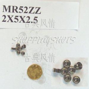 100pc MR52 MR52Z Miniature Bearings ball Mini bearing 2X5X2.5 2*5*2.5 MR52zz 2Z ZZ  free shipping