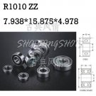 10pcs R1010 ZZ 7.938*15.875*4.978 mm Miniature Ball Radial Ball Bearings R1010ZZ   free shipping
