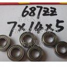 (10pcs) 687 ZZ Miniature Bearings ball Mini bearing 7x14x5 mm 7*14*5 687ZZ 687Z 2Z free shipping