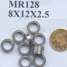 10pcs) MR128 MR128Z Miniature Bearings ball Mini bearing 8X12X2.5 8*12*2.5 MR128zz  free shipping