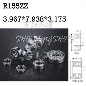 "10pcs R155 ZZ 5/32""x 5/16""x 1/8"" inch Miniature Ball Radial Ball Bearings R155ZZ  free shipping"