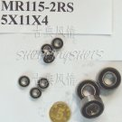 (100pcs) MR115 MR115RS Miniature Bearings ball Mini bearing 5X11X4 mm 5*11*4 2RS RS free shipping