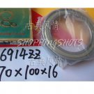 10 pcs thin 6914-2ZZ ZZ bearings Ball Bearing 6914ZZ 70X100X16 70*100*16 mm6914Z Z   free shipping