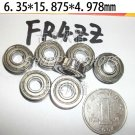 "10 pcs Flanged Balls Bearing FR4 ZZ 1/4"" 5/8"" 0.196inch Shielded Bearings FR4ZZ  free shipping"