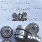 1pc F623ZZ 3x10x4 Flanged 3*10*4 mm F623Z Miniature Ball Radial Bearing F623 ZZ free shipping