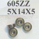 1pc 605 2Z ZZ Miniature Bearings ball Mini bearing 5x14x5 5*14*5 605ZZ ABCE1 free shipping
