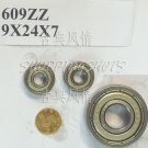 1pc 609ZZ 609 2Z ZZ Miniature Bearings ball Mini bearing 9x24x7 9*24*7 mm ABCE1  free shipping