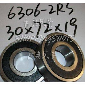 10 pcs 6306-2RS RS Deep Groove Ball Bearing ABEC1 30x72x19 mm 30*72*19 6306RS free shipping