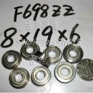 10pc F698ZZ 8x19x6 Flanged 8*19*6 mm F698Z Miniature bearings Bearing F698 ZZ 2Z free shipping