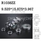 "1pcs R1038 ZZ 3/8""x 5/8""x 5/32 inch Miniature Ball Radial Ball Bearings R1038ZZ free shipping"