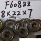 1pc F608ZZ 8x22x7 Flanged 8*22*7 mm F608Z Miniature Ball Radial Bearing F608 ZZ free shipping