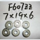10pc F607ZZ 7x19x6 Flanged 7*19*6 mm F607Z Miniature Ball Radial Bearing F607 ZZ free shipping