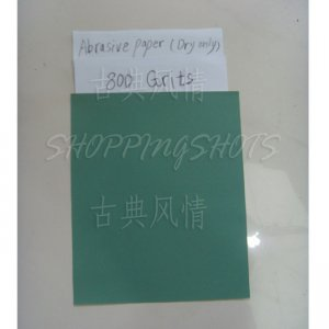 5 Sheets 800 Grits Quality SANDPAPER Dry sand paper 9X11 abrasive metallographic free shipping