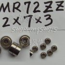 100pcs MR72 MR72Z Miniature Bearings ball Mini bearing 2X7X3 2*7*3 MR72zz 2Z ZZ  free shipping