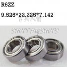 "100pcs R6 ZZ 3/8"" x 7/8""x 9/32"" inch Bearing Miniature Ball Radial Bearings R6ZZ  free shipping"