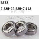 "100pcs R6 ZZ 3/8"" x 7/8""x 9/32"" inch Bearing Miniature Ball Radial Bearings R6ZZ  free shipping"