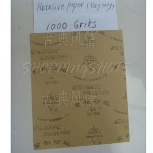 free shipping 5 Sheets 1000 Grit Quality SANDPAPER Dry sand paper 9X11 abrasive metallographic