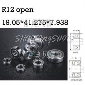"""1pcs R12 open 3/4"""" x 1 5/8"""" x 5/16"""" inch Bearing Miniature Ball Radial Bearing free shipping"""