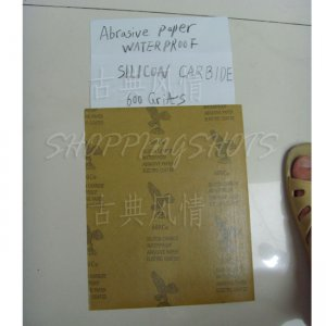 "free shipping 5) SANDPAPER 600 grit electro coated silicon carbide sand paper Wet/Dry 9""X11"""