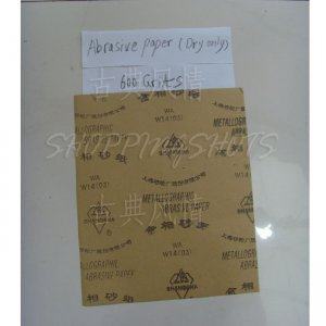 free shipping 10 Sheets 600 Grits Quality SANDPAPER Dry sand paper 9X11 abrasive metallographic