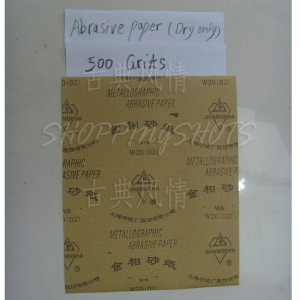 free shipping 5 Sheets 500 Grits Quality SANDPAPER Dry sand paper 9X11 abrasive metallographic