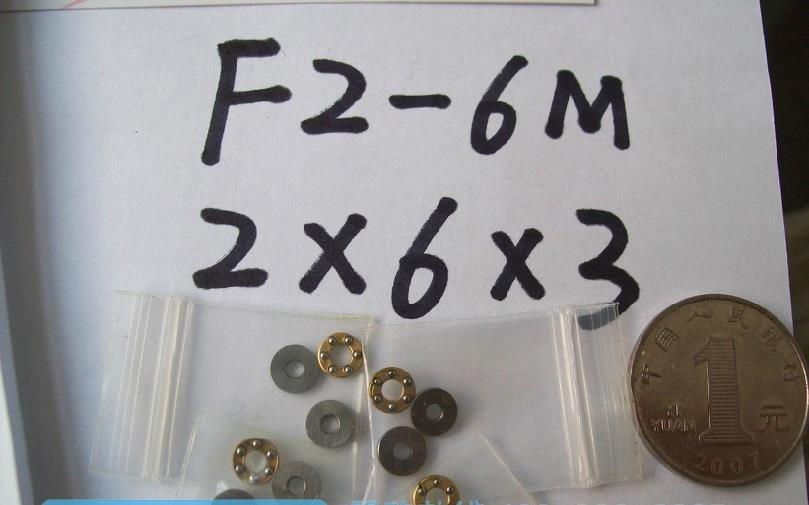 10 pcs 2 x 6 x 3 mm F2-6M Axial Ball Thrust quality Bearing 3-Parts 2*6*3 ABEC1