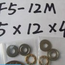 10pcs 5 x 12 x 4 mm F5-12M Axial Ball Thrust quality Bearing 3-Parts 5*12*4 ABEC1