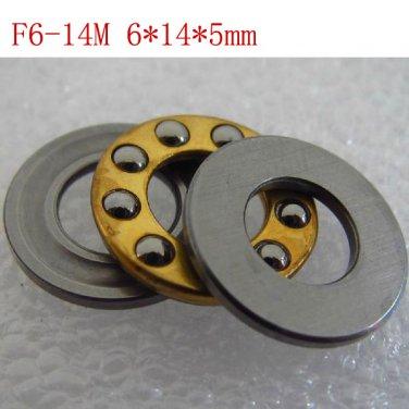 1pcs 6 x 14 x 5 mm F6-14M Axial Ball Thrust quality Bearing 3-Parts 6*14*5 ABEC1
