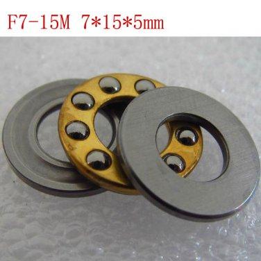 10pcs 7 x 15 x 5 mm F7-15M Axial Ball Thrust quality Bearing 3-Parts 7*15*5 ABEC1