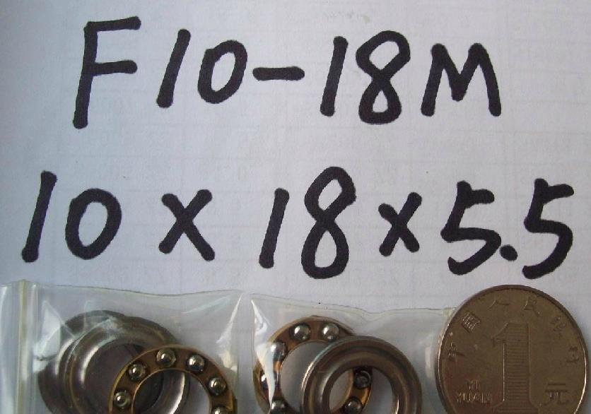 1pcs 10 x 18 x 5.5 F10-18M Axial Ball Thrust quality Bearing 3-Parts 10*18*5.5
