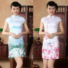 chinese Short sleeve cotton printing dress qipao Cheongsam 140420 size 30-38
