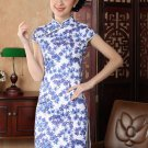 chinese Short sleeve cotton printing dress qipao Cheongsam 140421 size 30-38