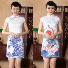 chinese Short sleeve The flower cotton printing dress qipao Cheongsam 140426