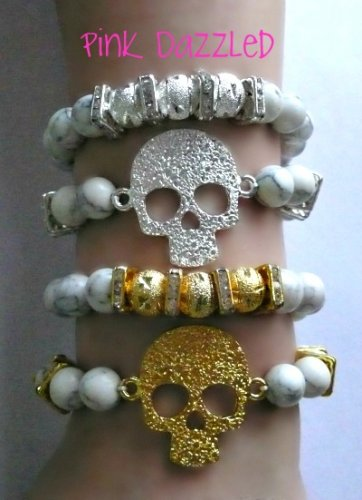 White Turquoise Skull Set