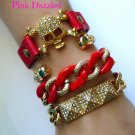Red and Gold Arm Candy Skull Set