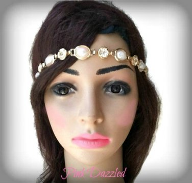 Pearls and Rhinestones Head Band