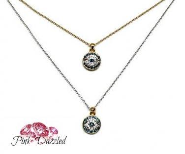 Cubic Zirconia Evil Eye Pendant Necklace