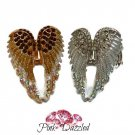 Rhinestone Encrusted Angel Wing Stretch Ring