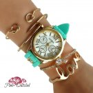 Mint Love Watch Gold Arm Candy Set