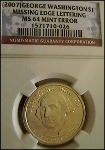 2007 Washington Presidential Dollar Error Coin