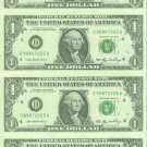 NEW Series 2006 Collectible Uncut Currency $1. FRN X 4 NOTES
